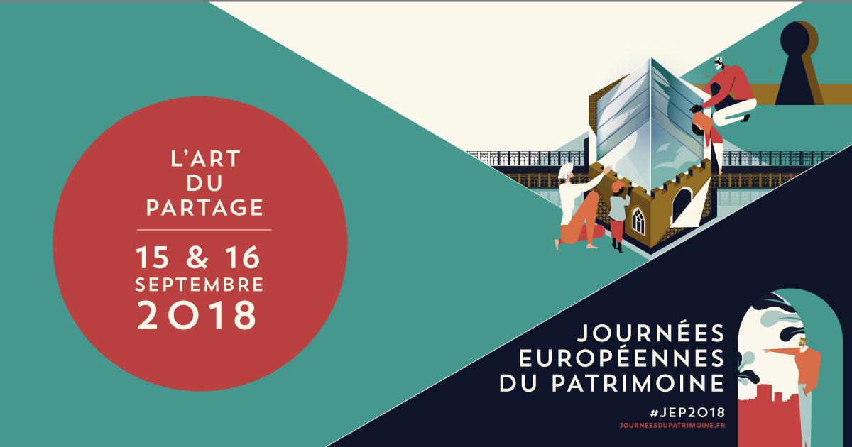 Journées européennes du Patrimoine 15-16 septembre 2018